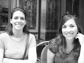 Photo: Teresa & Katie at a breakfast cafe on the sidewalk in Paris (amazing crepes)