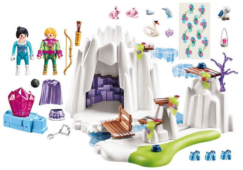 Contenido real de Playmobil® 9470 Búsqueda del Diamante de Cristal