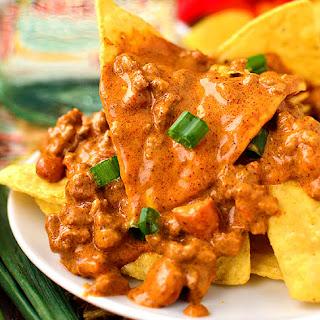 Crock Pot Cheesy Beef and Bean Enchilada Dip Recipe