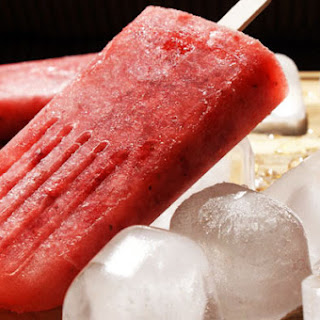 Strawberry Riesling Popsicles