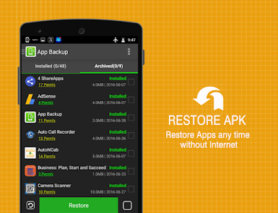 Apps Backup - Restore, Share - náhled