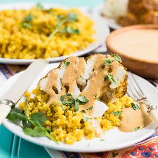 Tandoori Cauliflower with Indian-Spiced Quinoa.