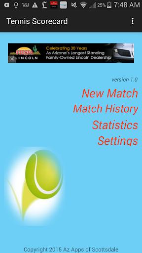 Tennis Scorecard