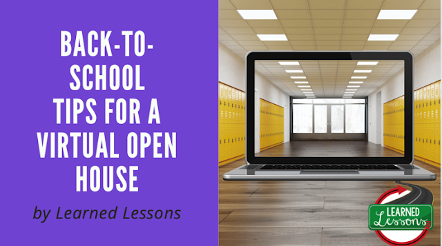 Virtual Open House Back-to-School Tips, Distance Learning