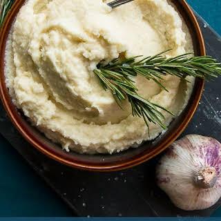 Creamy Garlic Cauliflower Potato Mash.