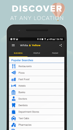 White & Yellow Pages screenshot 1