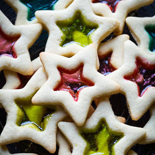 Gluten Free Christmas Cookies with Stained Glass.