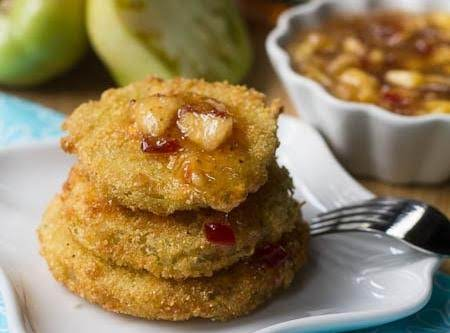 Fried Green Tomatoes With Peach Pepper Jelly Sauce Recipe