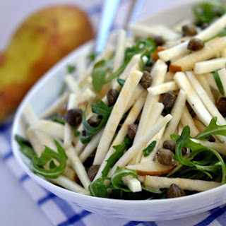 Celeriac, Pear & Rocket Salad