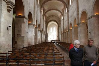 Photo: Derefter besøgte vi cistercienserklostret Eberbach. Her er vi i kirken. Hele klostret er nu museum.