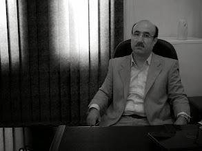 Photo: Dr Azad, director of The Kurdish Academy of Sciences, Hawlêr, 2011