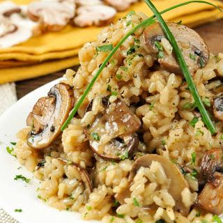 Truffled Mushroom Risotto [Vegan, Gluten-Free].