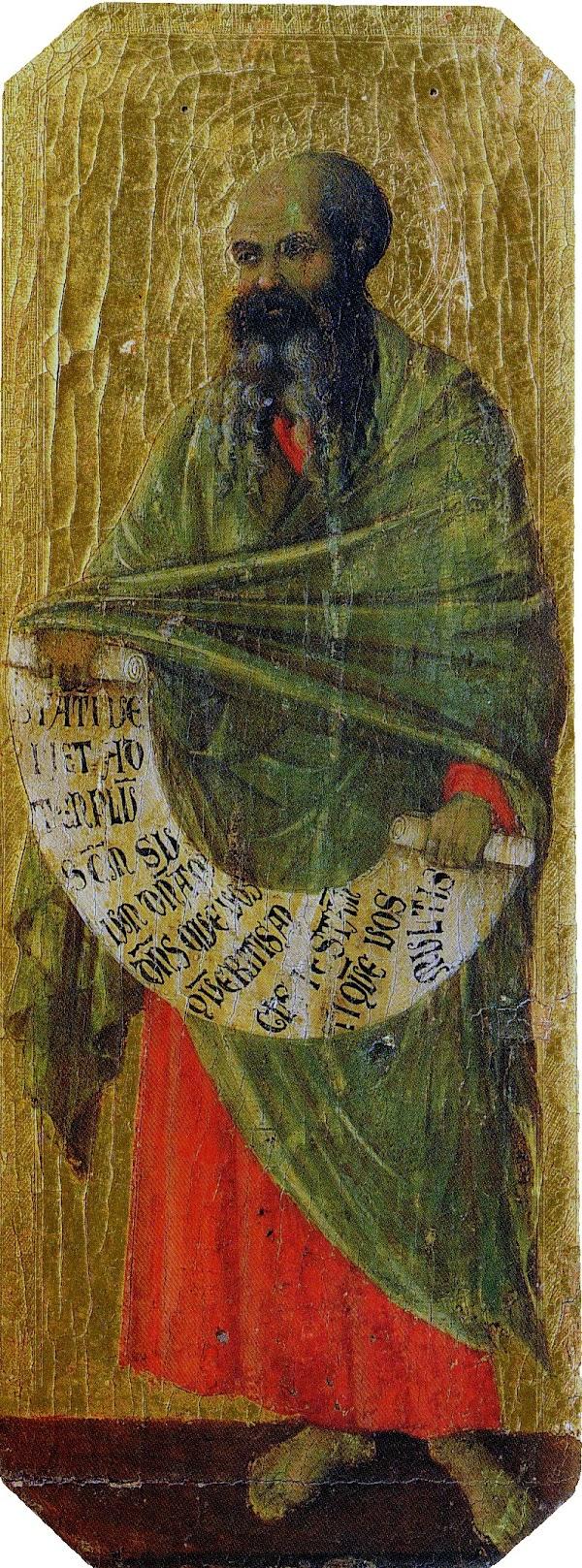 Duccio di Buoninsegna, Predella della Maestà, Malachia
