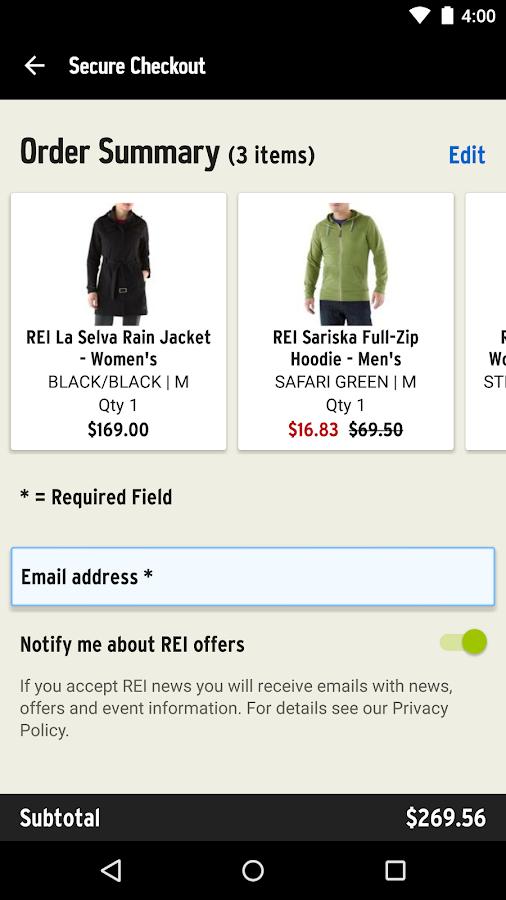 REI – Shop Outdoor Gear- screenshot