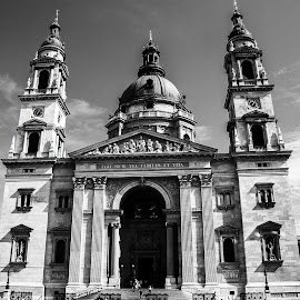 St Stephen's Basilica, Budapest. by Simon Page - Black & White Buildings & Architecture