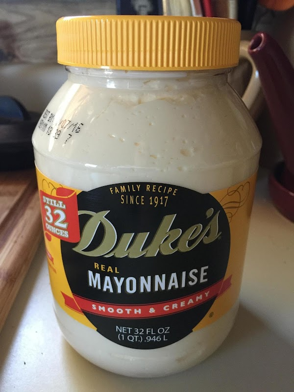Add mayonase, thin with a small splash of buttermilk.