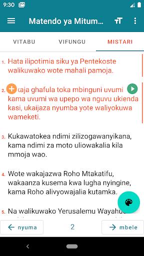 Biblia Takatifu, Swahili Bible 9.6 Screenshots 7