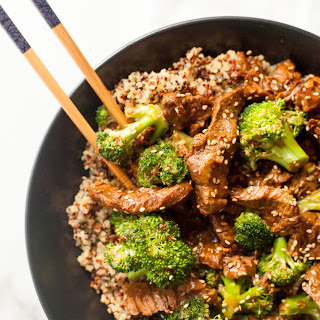 Slow Cooker Beef and Broccoli with Quinoa.