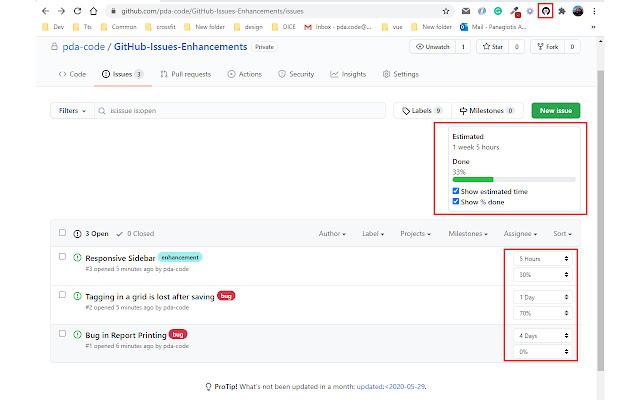 GitHub Issues Enhancements