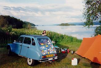 Photo: Lakeside camping North of the Arctic Circle