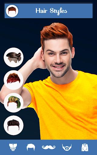 Hairy - Men Hairstyles beard & boys photo editor screenshots 1
