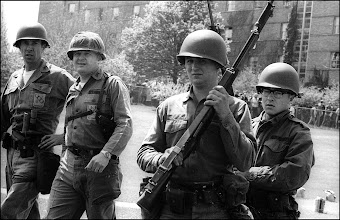 Photo: Troop G Captain Raymond Srp, left, next to Lt. Col. Fassinger May 4, 1970.