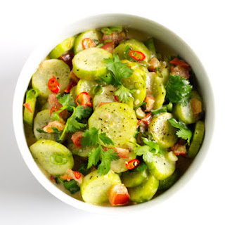 Spiced Cucumbers and Coconut Milk