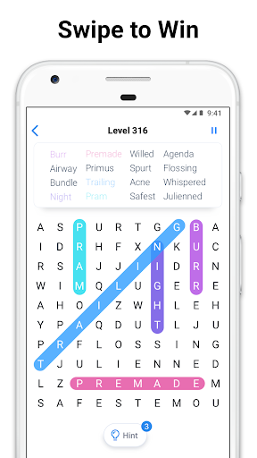 Word Search - Free Crossword and Puzzle Game apkpoly screenshots 3