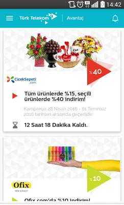 Türk Telekom Avantaj - screenshot