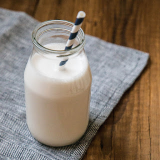 Homemade Almond Milk.