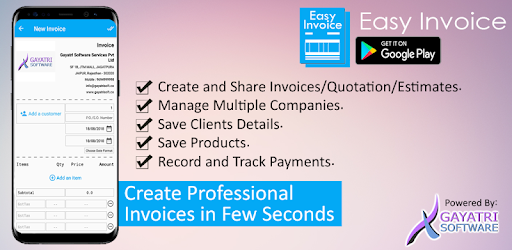 Easy Invoice Apps On Google Play - Invoice software multiple companies