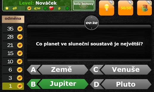 Kvízy česky - Nejchytřejší. Online hra zdarma. - náhled
