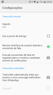 Transcriber para o WhatsApp Screenshot