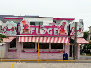 Photo: The exterior decor of Laura's Fudge, Wildwood, NJ, hasn't changed since my youthful visits, almost fifty years ago. https://www.laurasfudge.com/