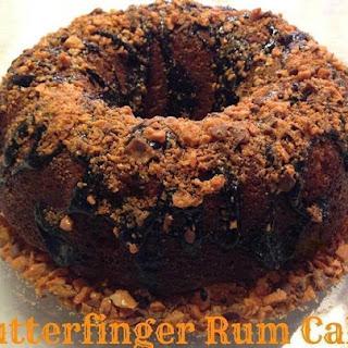Butterfinger Rum Cake.