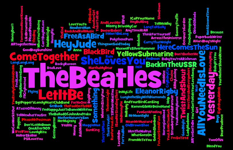 Beatles song titles