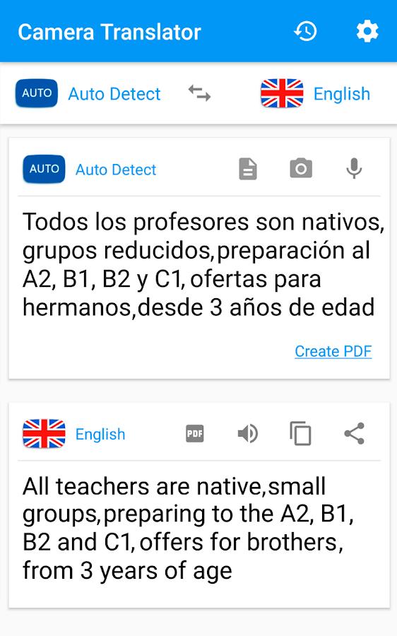 Camera Translator - Translate Picture Scanner PDF - Android Apps ...Camera Translator - Translate Picture Scanner PDF- screenshot