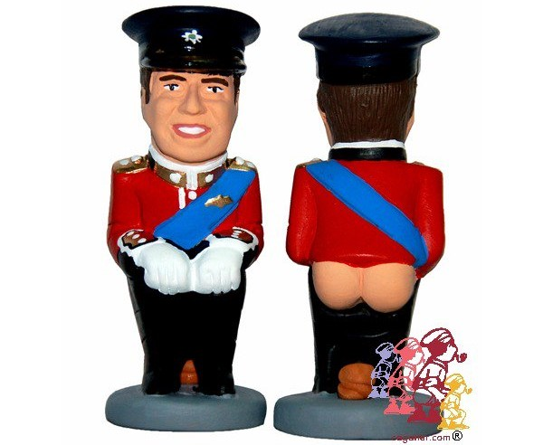 Royal Wedding caganer. It's actually Prince William, of course.