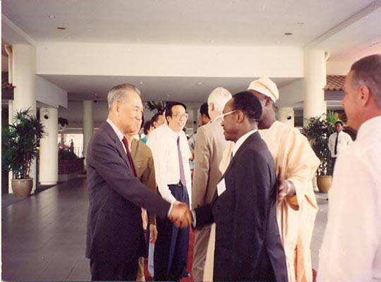 The Obasanjo-led group meets LKY. Picture: OLUSEGUN OBASANJO PRESIDENTIAL LIBRARY