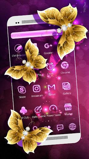 Pink Neon Purple Butterfly Theme ss3