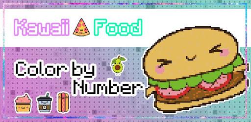 Kawaii Food Pixel Art Food Coloring By Numbers Apps On