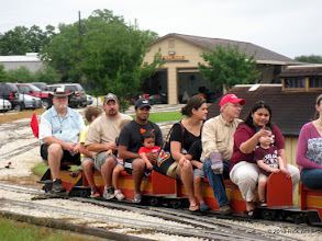 Photo: Bill Smith is the conductor.   Red cap is on Bob Barnett, Trainmaster for today.     HALS Public Run Day 2013-0921 RPW