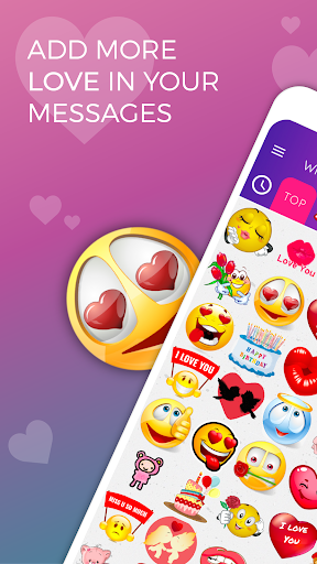 WhatsLov - Smileys of love, stickers and GIFs screenshot