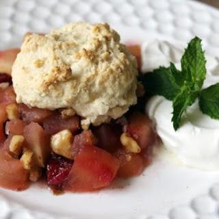 Baked Apple & Cranberries With Dumplings
