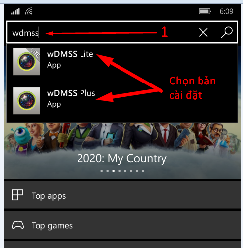 Tìm và tải phần mềm xem camera dahua trên Windows Phone