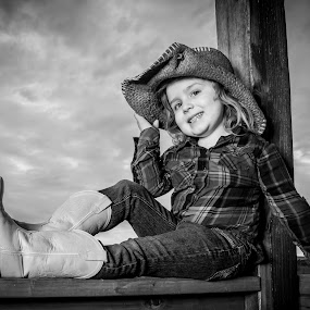 Cowgirl by Evan Jones - Babies & Children Child Portraits ( cassie, family, cowgirl, kids, cute, boots, hat,  )
