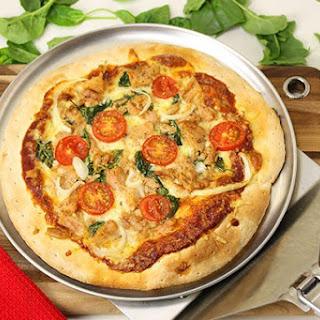 Tuna & Spinach Pizza.