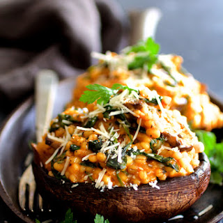 Barley Risotto Stuffed Portobello Mushrooms Recipe