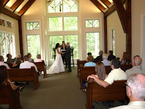 Photo: Serenity Chapel Marriage at Trillium Highlands, NC - Wedding Officiant, Marriage Minister, Notary, Justice Peace - Brenda Owen - http://www.WeddingWoman.net   -