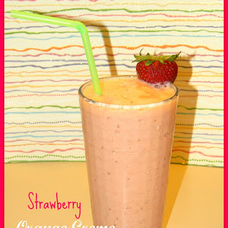 Strawberry Orange Creme Smoothie.